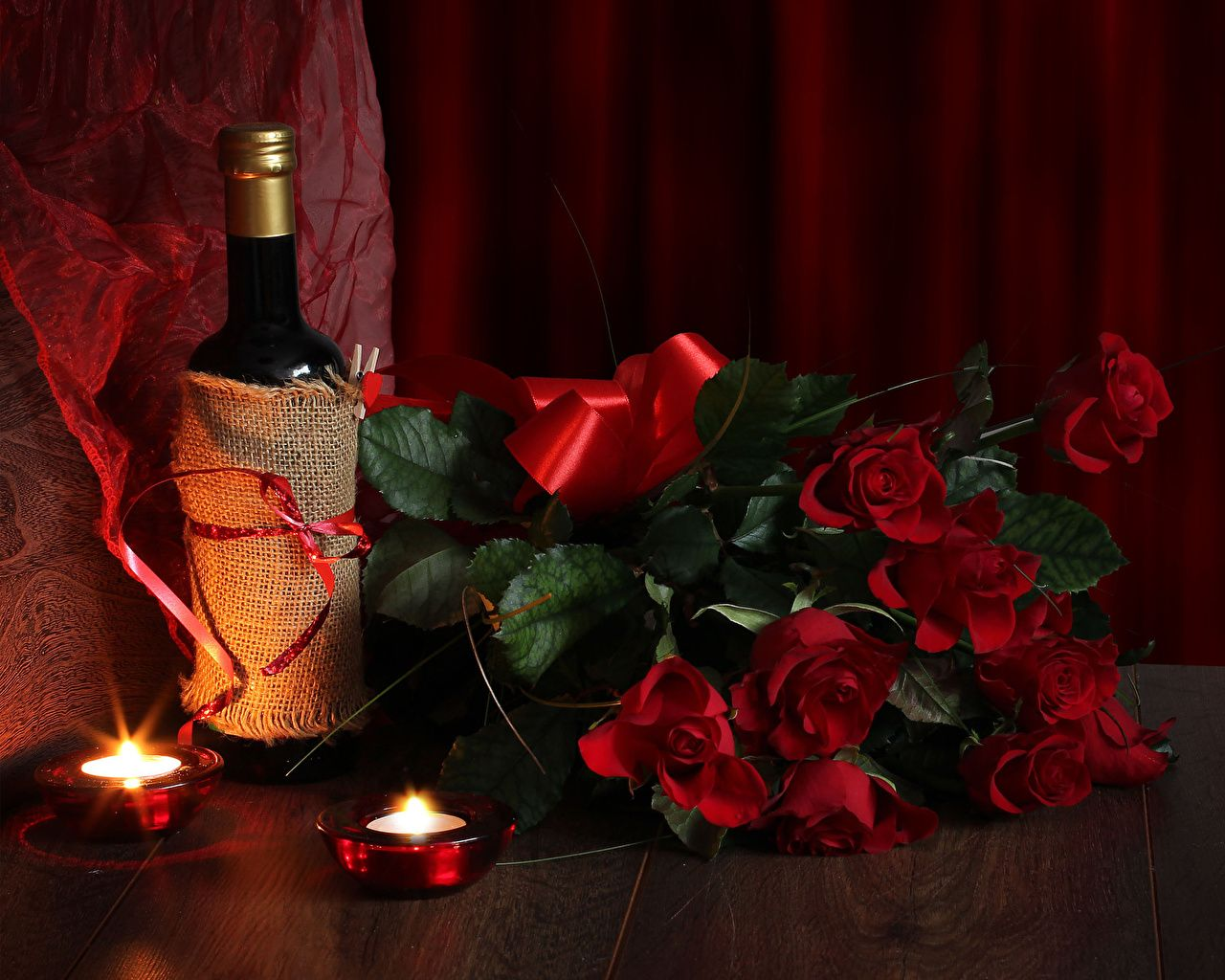 Wallpapers International Women S Day Bouquets Red Wine Roses Flowers Bottle Candles Holidays March 8 In 2020 Wine Bottle Candles Romantic Wine Red Wine