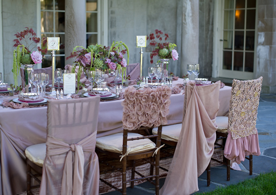 Love these mismatched chair covers - so sweet!