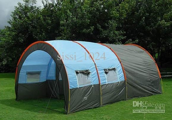 10persons Large Family Tent/C&ing Tent/Tunnel Tent/1hall 2room Party Tent Shelter : best large tent - memphite.com