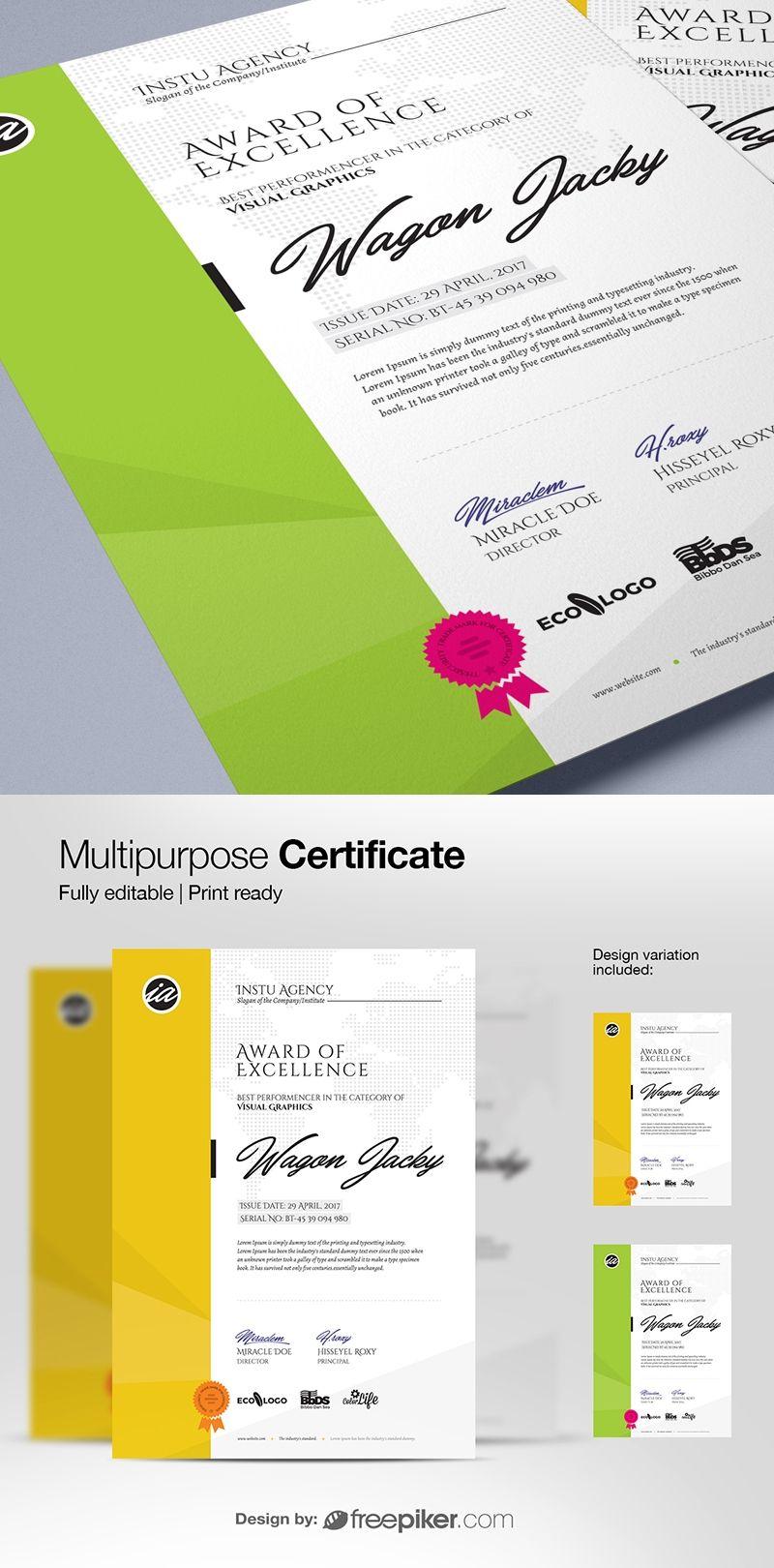 portrait diploma certificate template