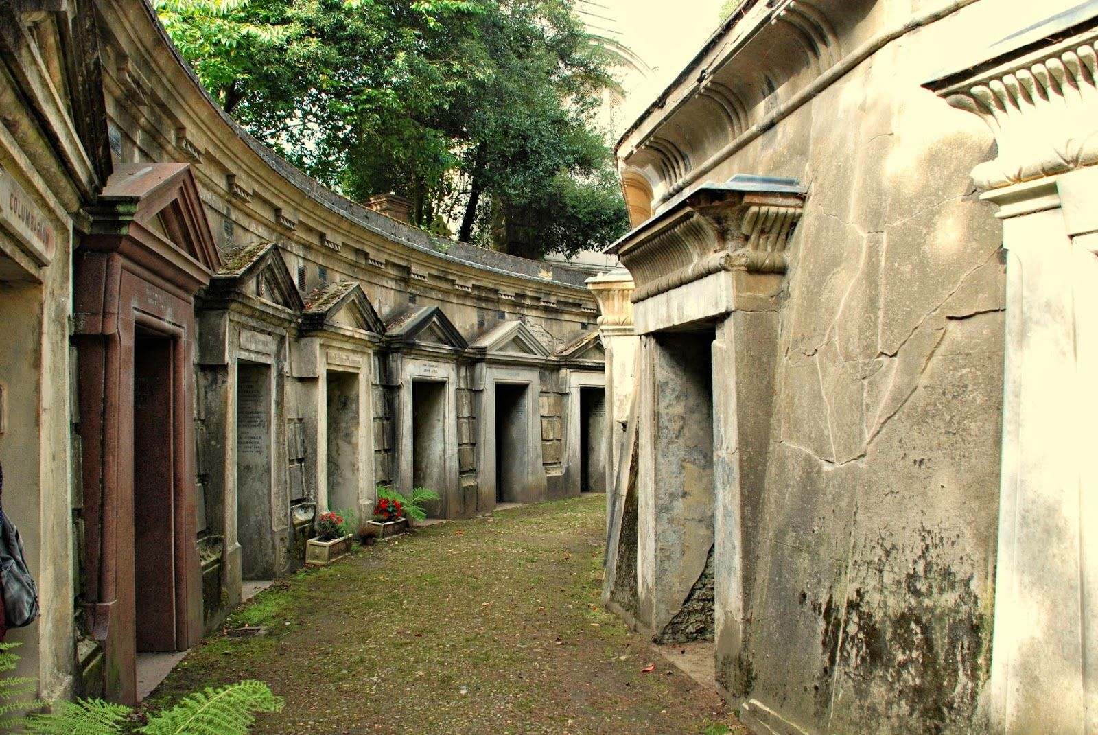The Circle of Lebanon, Highgate Cemetery, London http