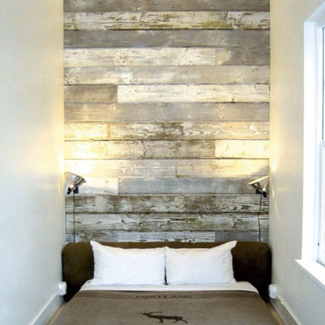 Laminate Flooring Kijiji: Reclaimed Wood Headboard Love.