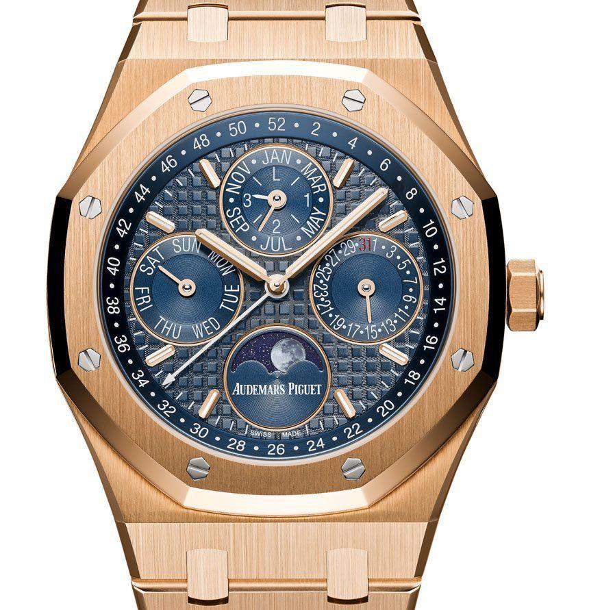 "Four New Audemars Piguet Royal Oak Perpetual Calendar Watches For 2015 ""The four…"