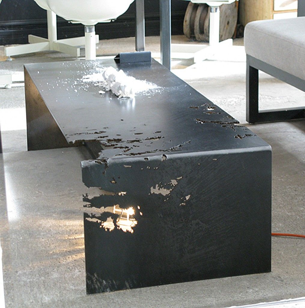 Commute Home Rolled Steel Coffee Table My Style