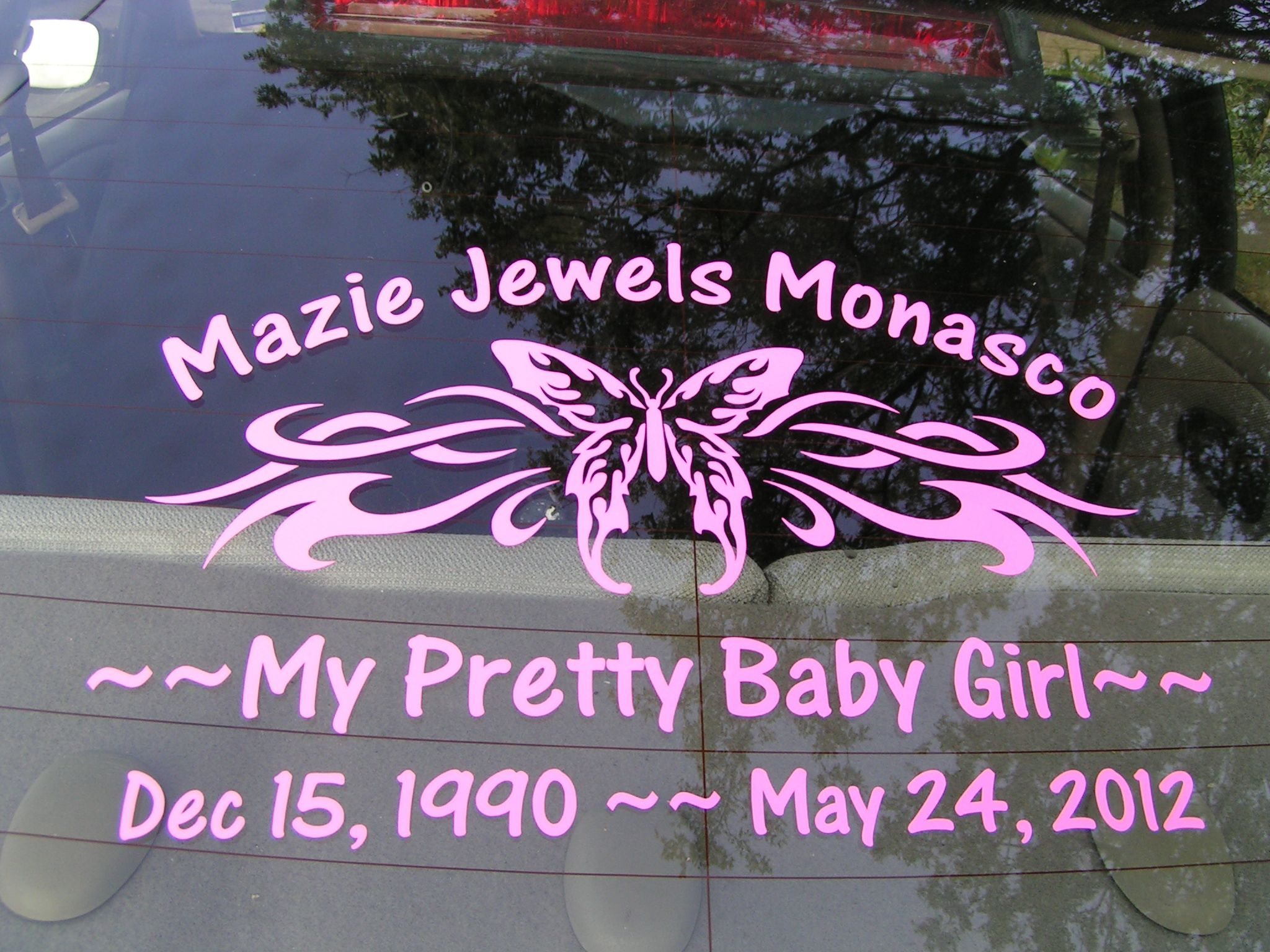 Design my own car sticker - Tribal Butterfly Decal Design Customized To Make A Child S Memorial Decal Add Your Own Text