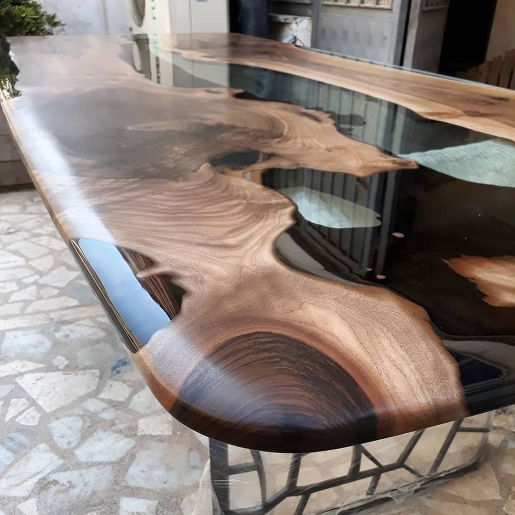 25 Best Resin Table With Timeless Design In 2020 Resin Furniture Wood Resin Table Wood Table Design