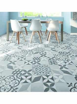 Sol vinyle texas new feliz d tail saint maclou for Carrelage imitation carreaux de ciment saint maclou