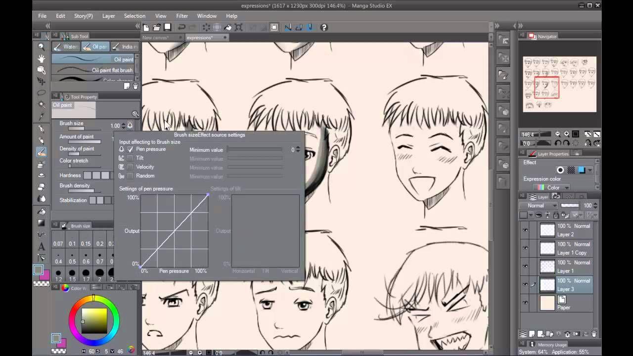 Manga Studio 5 My Brush Pen Pencil Settings Clip Studio Paint Manga Studio Clip Studio Paint Brushes