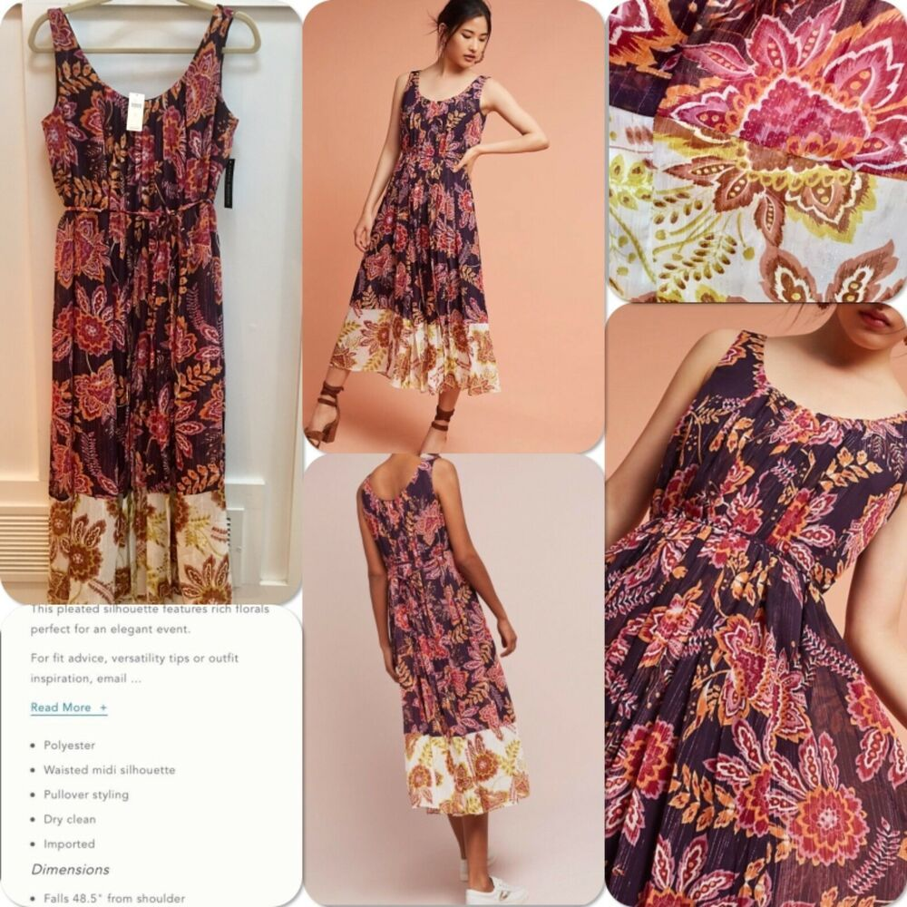 f49681083957 Anthropologie Liv Floral Midi Dress by Donna Morgan Size 6 NWT Retail $228 # Anthropologie #MidiDress