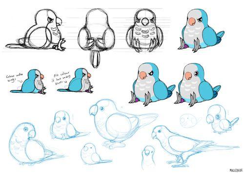 Technique de dessin pour faire une perruche ondul e oiseaux dessin oiseau perruche et - Dessin perruche ...