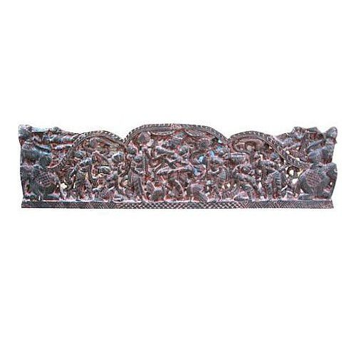 Amazon.com: India Carvings Krishna with Gopis Carved Queen Bed Frame ...