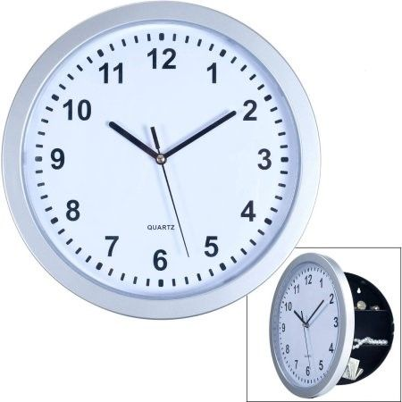Hidden Compartment Wall Clock 10 Battery Operated Working Analog
