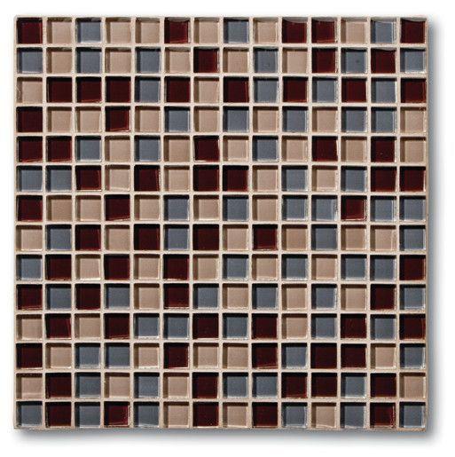"The Studio 11.75"" x 11.75"" Glass Mosaic Tile in Monte Carlo"