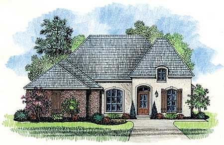 Plan 56322sm Narrow Lot French Country Home Plan French Country House French Country House Plans French Country Bedrooms