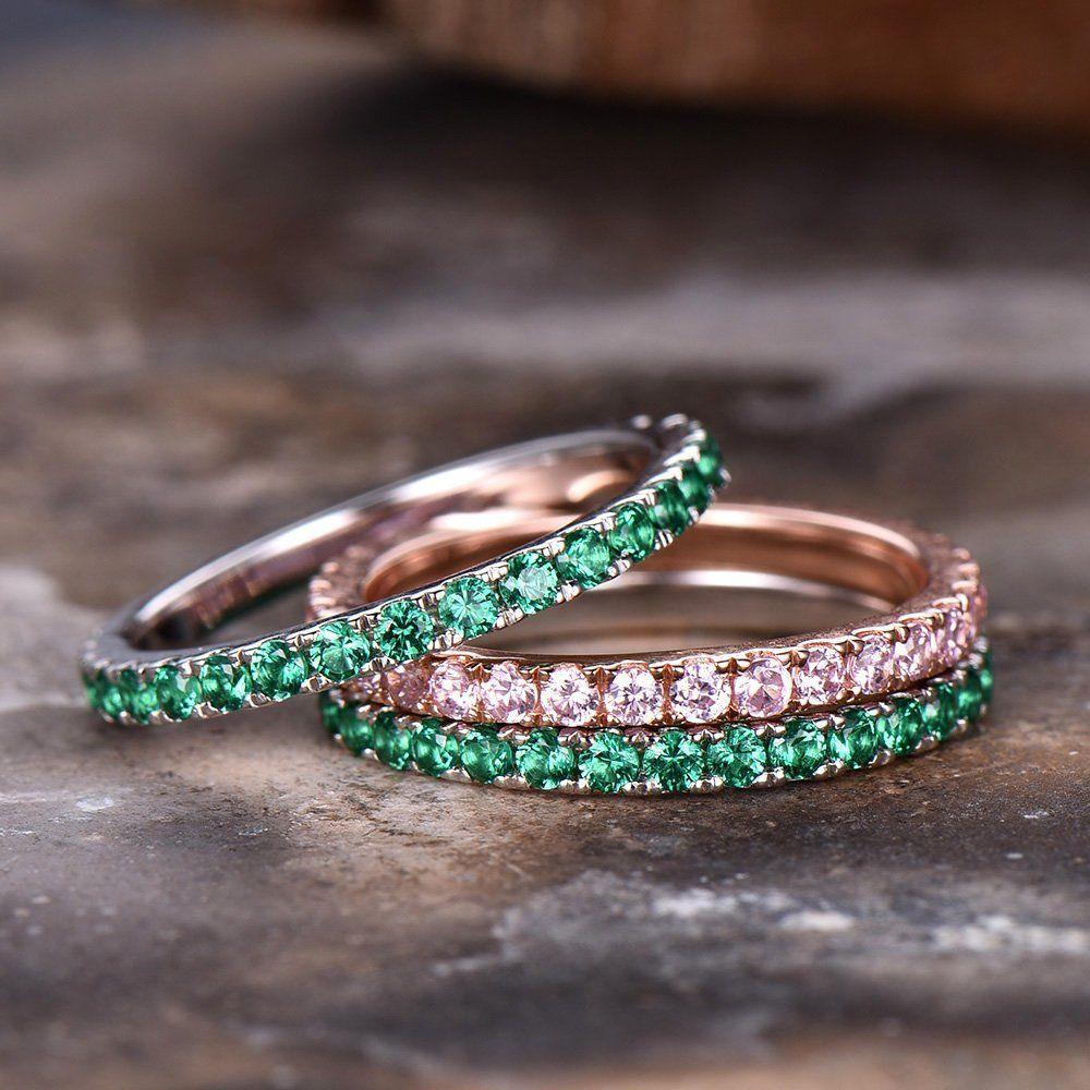 Emerald Wedding Ring Cz 925 Sterling Silver Bbbgem Silverring Weddings Weddingring Emerald Wedding Rings Sterling Silver Wedding Band Silver Wedding Bands