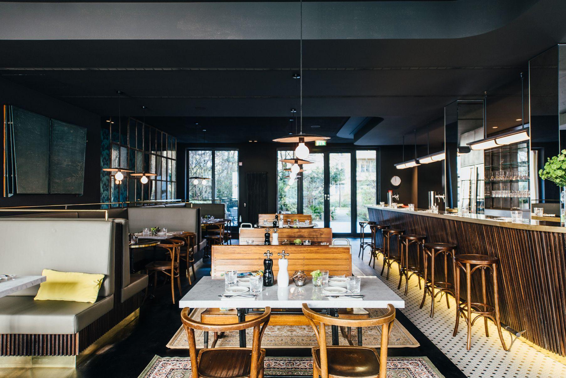 munich - tim raue - tertianum - restaurant - brasserie - timber