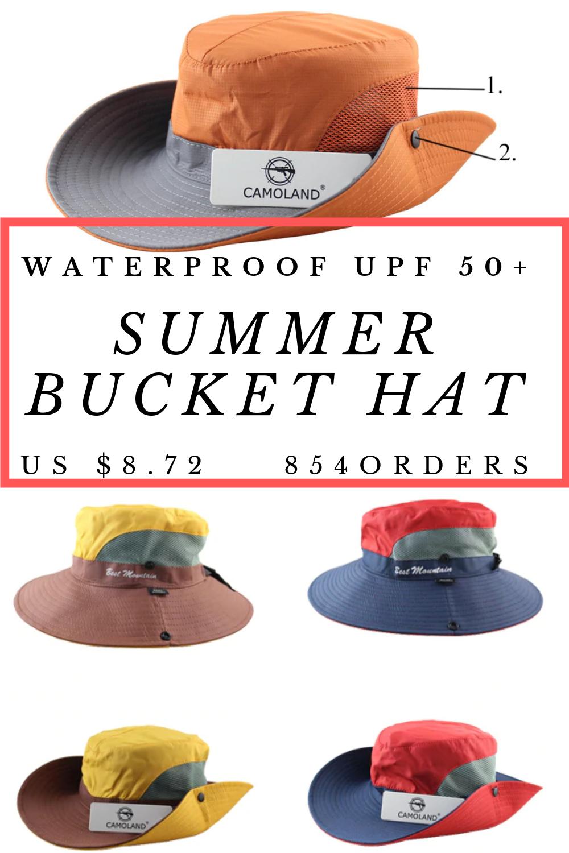 ad2d29c9c Sun Hat Bucket Summer Men Women Waterproof UPF 50+ | Camping Gear ...