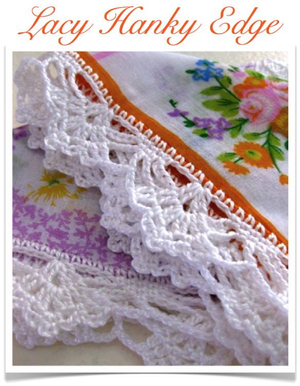 Crochet Hanky edge: Sarah London | puntillas cuadradas pañuelos ...