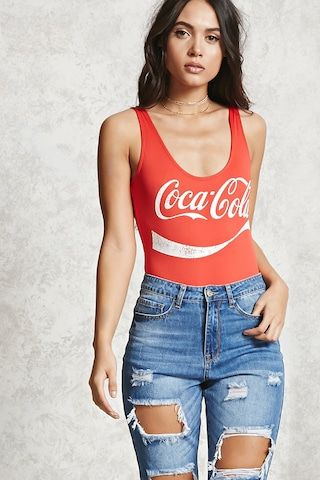 19ac116384083 A stretch-knit pull-on bodysuit featuring a Coca-Cola™ logo on the front