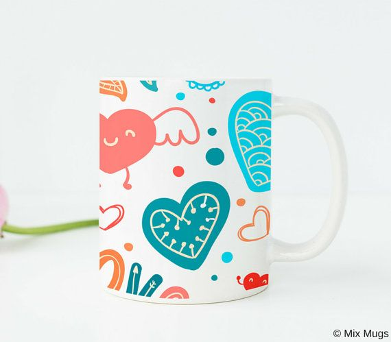 Gifts Under 20 Cute Mug Cups Heart Unique For Her Birthday Gift Girls Teen Girl G