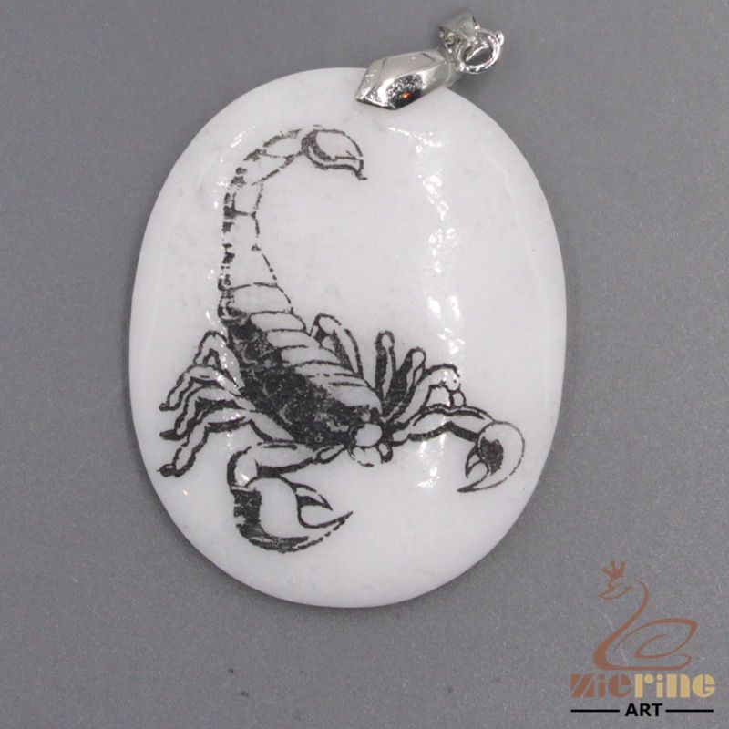 STONE  NECKLACE COLORING PAGES SCORPIONS PENDANT WHITE GEMSTONE ZL7001253 #ZL…