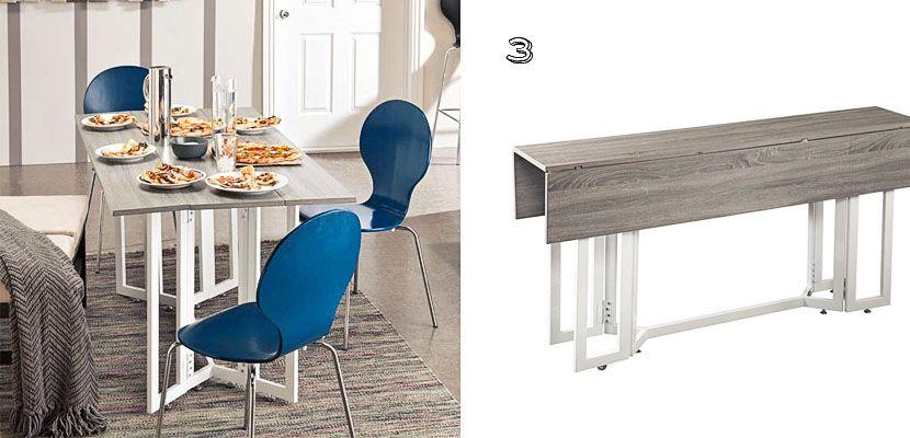 5 mesas con hojas abatibles para cocinas pequeñas | ideas decoración ...