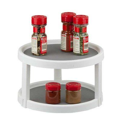 Merveilleux Home Basics Twin Turntable Spice Rack    Click For Special Deals  #KitchenOrganizerIdeas
