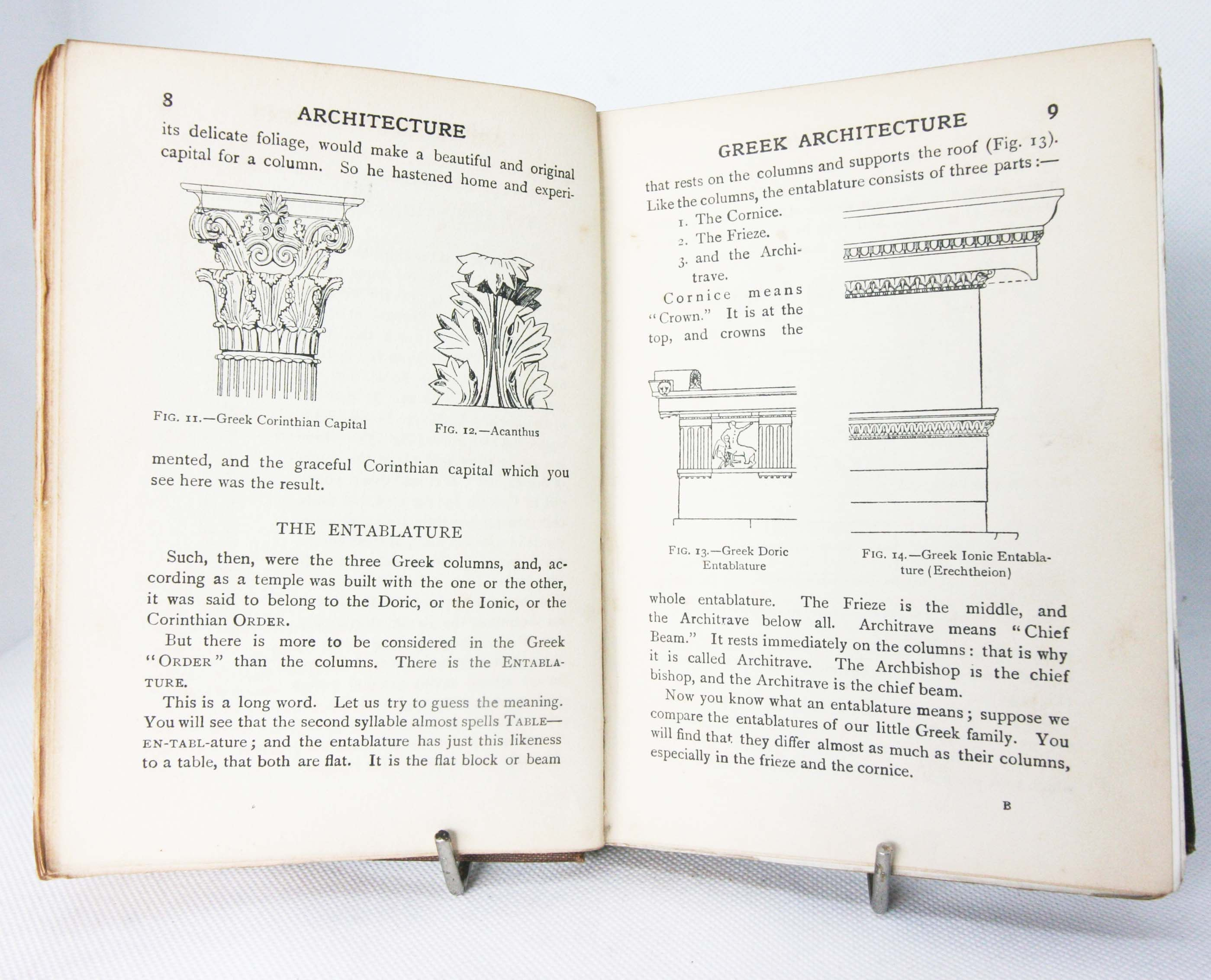 Architecture And Building Vintage Old Book Handbook
