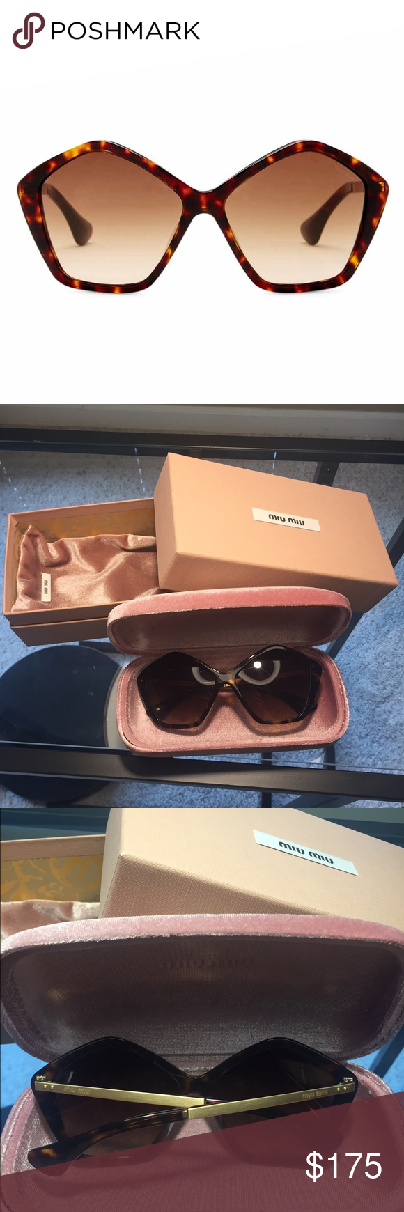 cdb269df8eab Received in mail and didn t like it. Sold out online. More than 50% off  retail. Miu Miu Accessories Sunglasses