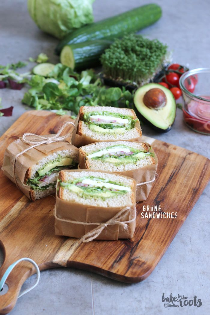 Grüne Sandwiches | Bake to the Roots