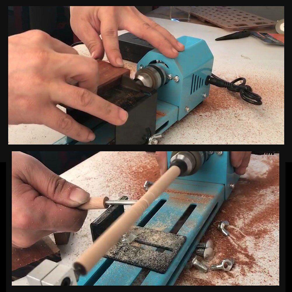 150W Mini Lathe Bead Polisher Machine Wood Grinding Woodworking DIY Tool Grinder