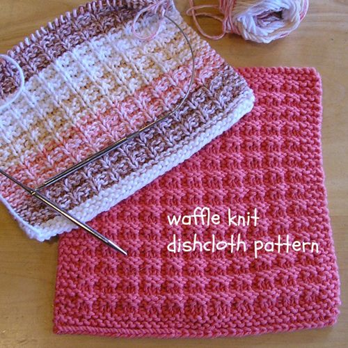 We Like Knitting Waffle Knit Dishcloth Free Pattern Crafting
