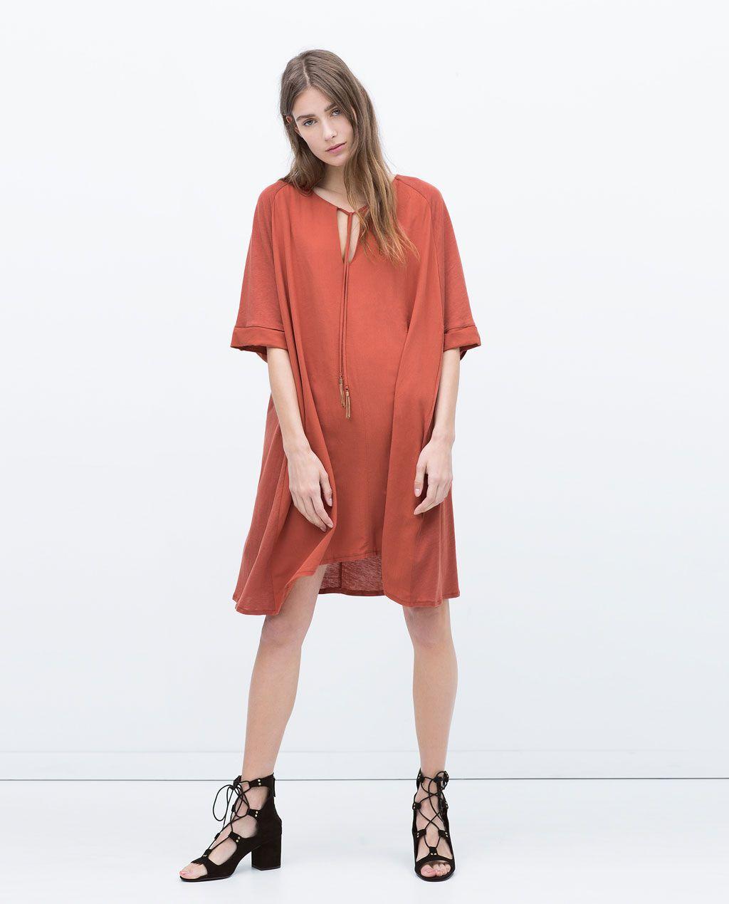 TUNIC DRESS WITH TASSELS-View all-Dresses-WOMAN | ZARA United ...