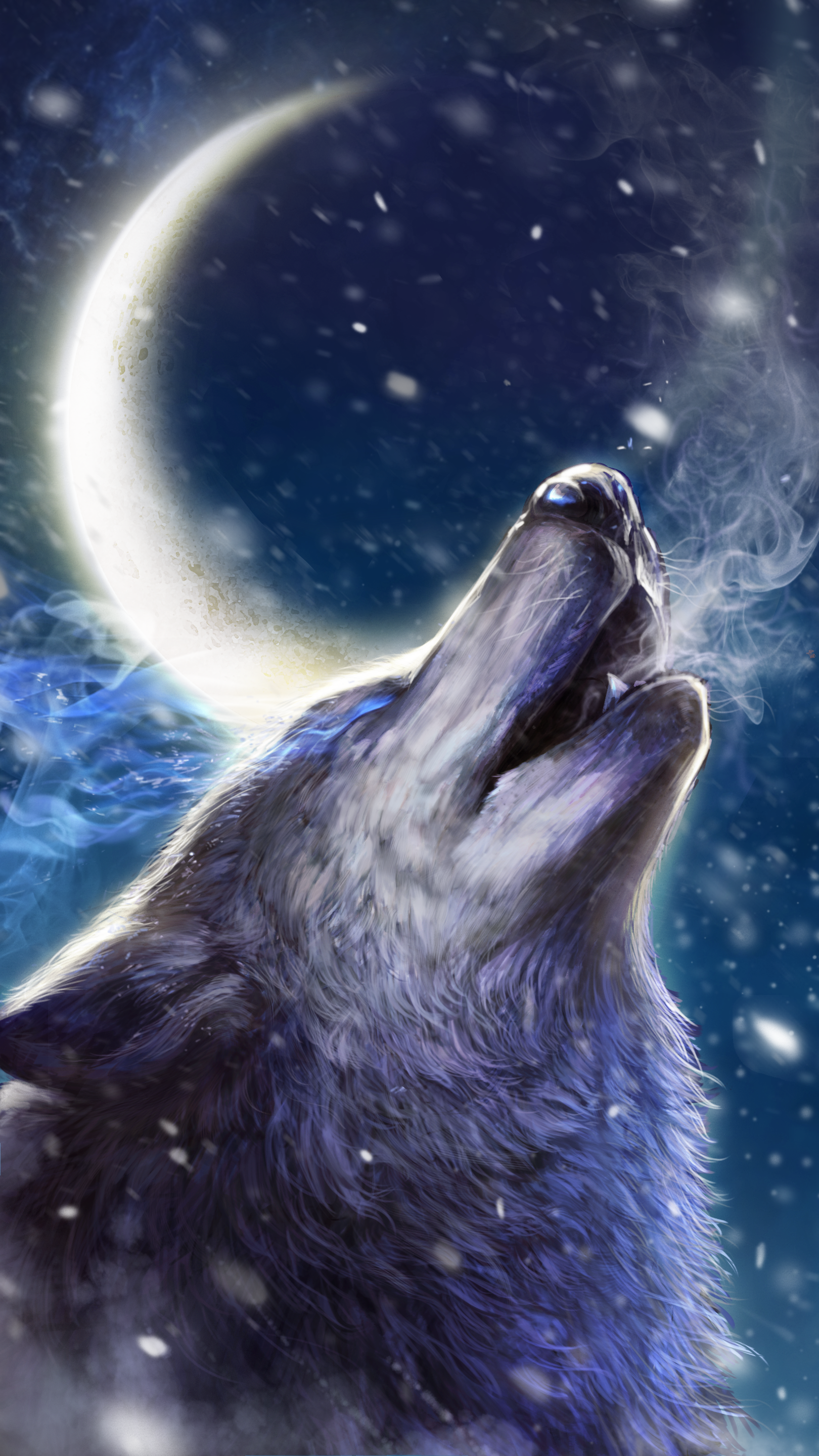 Howling wolf live wallpaper!   Android live wallpapers from Ahatheme in 2019   Pinterest   Wolf ...