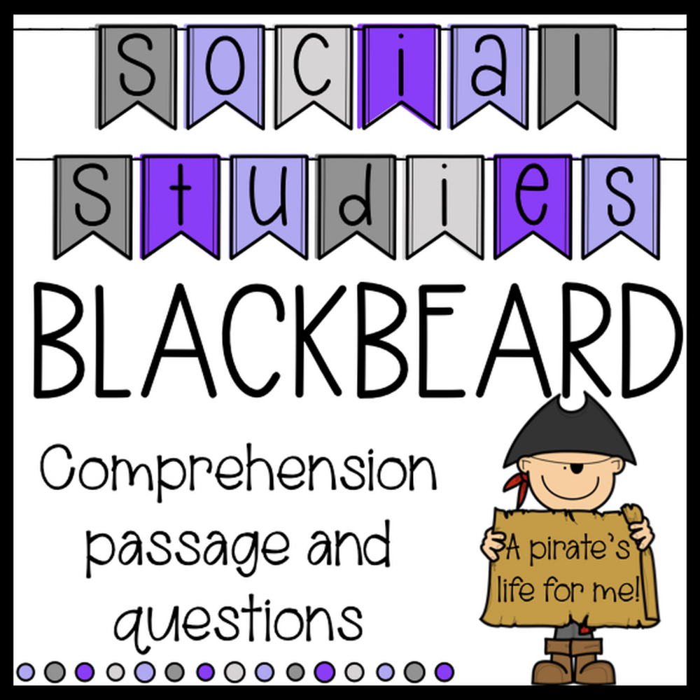 Blackbeard The Pirate Reading Passage And Comprehension Questions Social Studies Reading Passages Elementary Social Studies Lessons Elementary Reading [ 1000 x 1000 Pixel ]