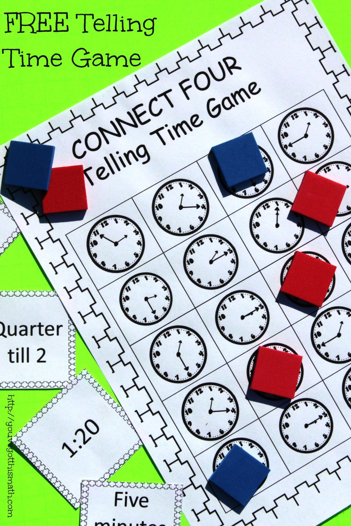 How to Practice Telling Time With A Fun, Easy Game | Free printable ...