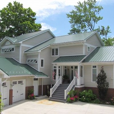 Best Classic Green Home Green Roof House House Paint Exterior 400 x 300
