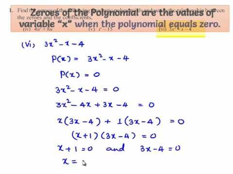 NCERT Solutions for Class 10th Maths Chapter 2 Polynomials