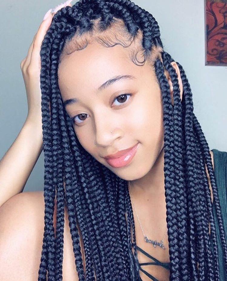 Box braids, protective hairstyles | Box braids styling ...