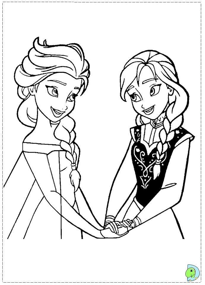 Coloring Pages Disney Princess Frozen : Frozen ausmalbilder 08 basteln pinterest elsa and color sheets