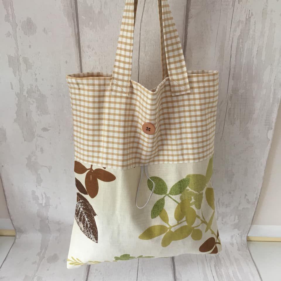 Fold up reuseable tote shopping bag marketswashable