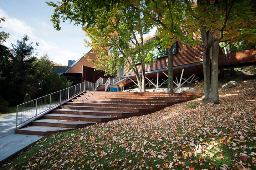 Blouin Tardif Elevates Balnea Spa Pavilion Above Wooded Site In