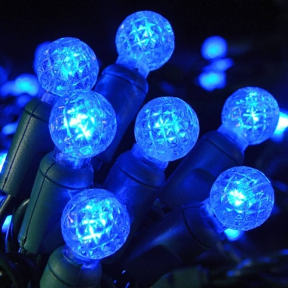 seasonal source clearance led g12 professional grade string lights blue 4