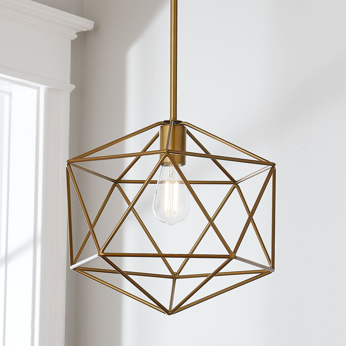 Young House Love Equilateral Pendant Geometric Pendant Light Gold Geometric Pendant Light Gold Pendant Lighting