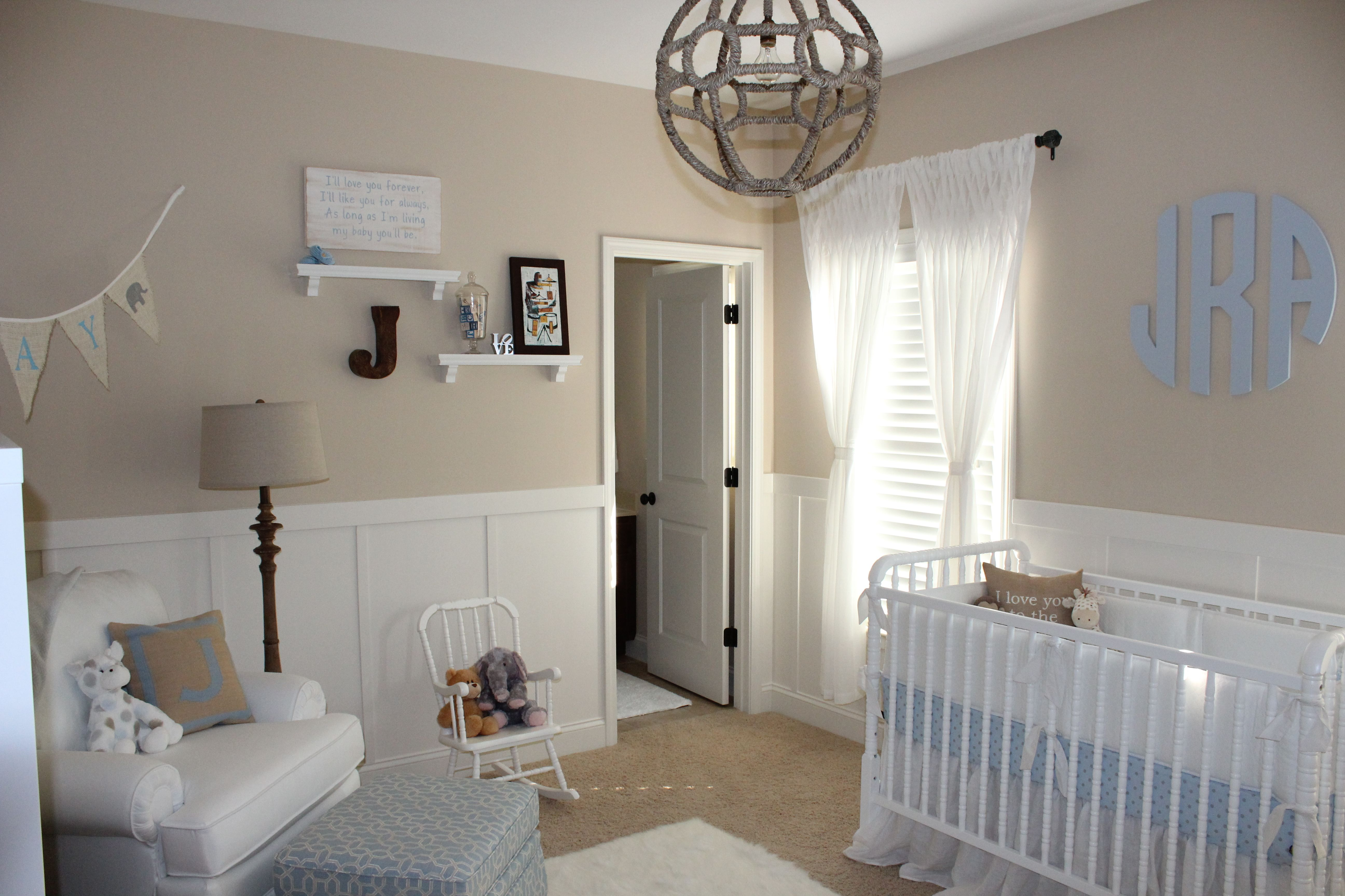 Beige and White Neutral Nursery for Baby Boy Neutral