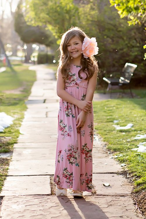 Long flowy maxi dresses for kids