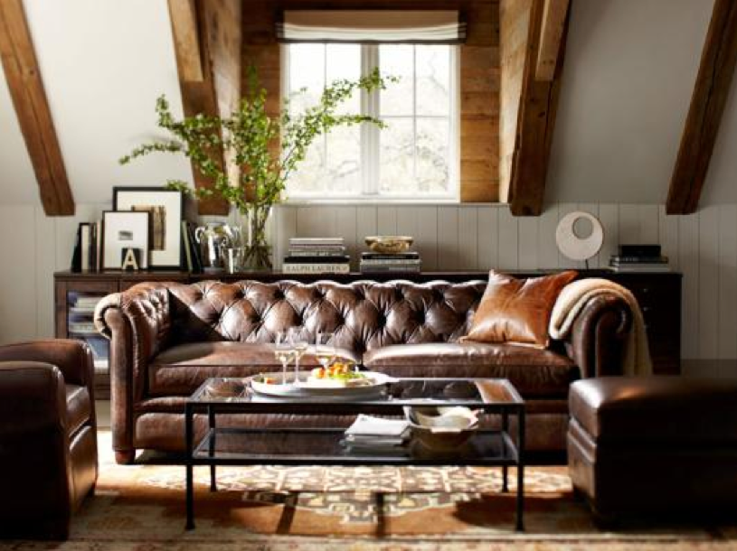 masculine living room living room in 2019 tufted leather sofa rh pinterest com
