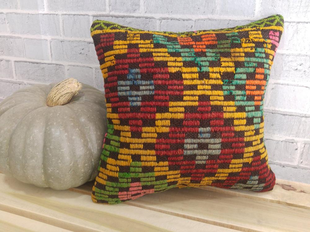 anatolian pillow , kilim cover , boho pillow , pillow case , 16 x 16 pillow , turkey pillow , couch decor pillow , bohemian pillow , 658