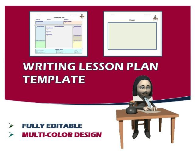 Lesson Plan Template - Writing (Editable) Lesson plan templates - health lesson plan