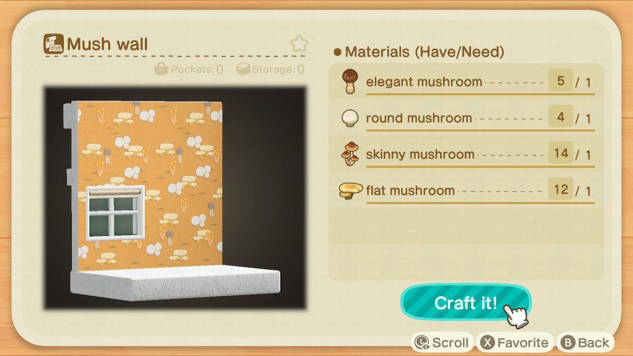 Animal Crossing New Horizons Seasonal Mushroom Diy Recipe List Polygon Crafting Recipes Diy Food Recipes Diy Crafts